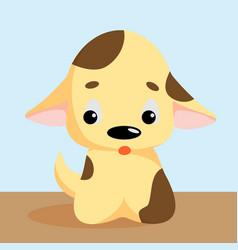 funny little dog puppy pet cartoon dog vector image vector image