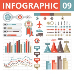 Infographic Elements 09 vector image vector image