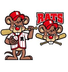 baseball rats mascot vector image