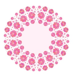 decorative flower background with place for text vector image vector image