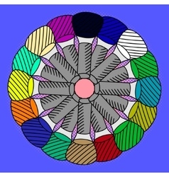 Nail polish Pop art vector image