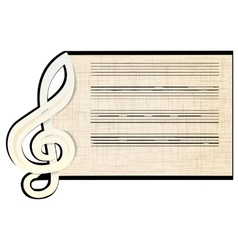 treble clef a stave vector image