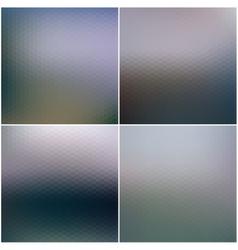 Abstract blurred hexagonal backgrounds set vector