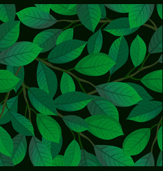 branches and leaves seamless pattern vector image vector image