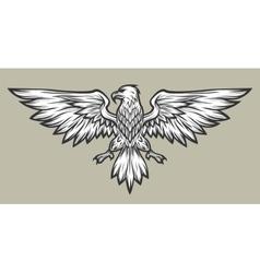 Eagle mascot spread wings Symbol mascot vector image vector image
