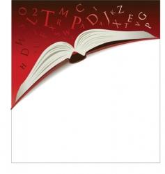 open book background vector image