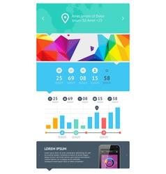 UI web design set vector image vector image