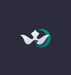 Abstract bird crescent premium logo icon design vector