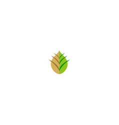 abstract leaf ecology logo vector image