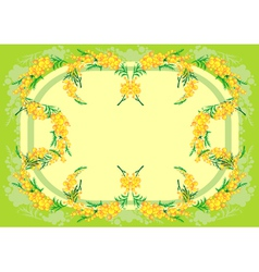 Abstract mimosa frame vector image
