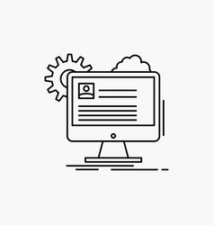 account profile report edit update line icon vector image