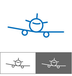 airplane logo template tourist company logotype vector image