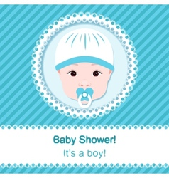 Baby boy shower vector