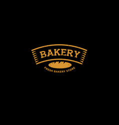 Bakery or bread shop logo vector