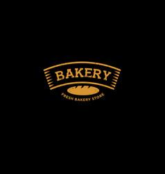 Bakery or bread shop logo vector