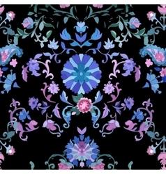 Beautiful watercolor paisley seamless pattern vector