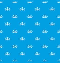 big crown pattern seamless blue vector image