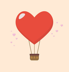 Big heart balloon vector