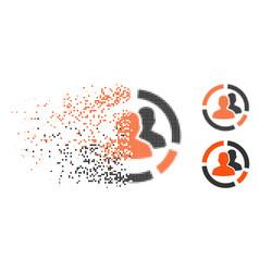 Broken dotted halftone patient diagram icon vector