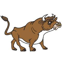 Bull logo mascot vector