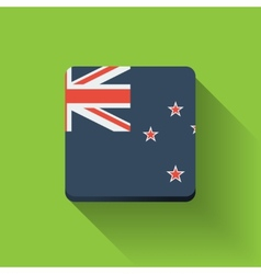 Button with flag of New Zealand vector