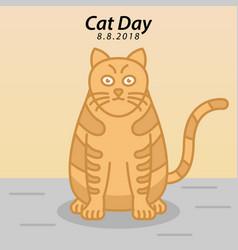 Cat day vector