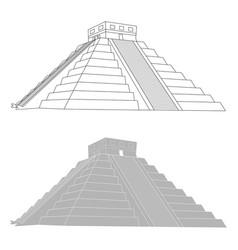 Chichen itza mexican mayan pyramid vector