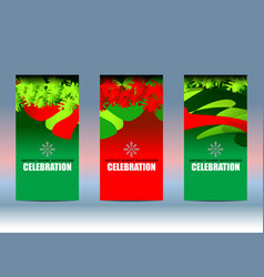 christmas new year background banner vector image
