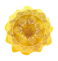 Cirular lace mandala style vector