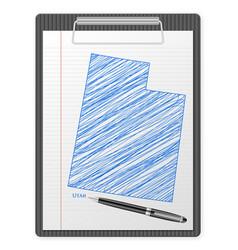 clipboard utah map vector image