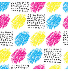 Colorful seamless pattern with brush blots vector