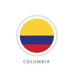 Columbia circle flag template design vector
