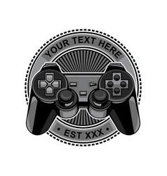 Controller game logo vector