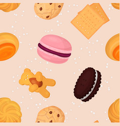 cookie and biscuits baking pastry and baked vector image