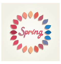 Creative spring card design vector image