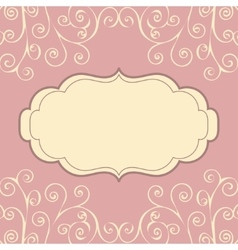 Decorative vintage pattern text background vector