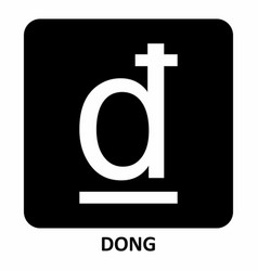 dong currency symbol vector image