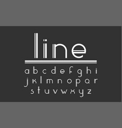 Double line font vector