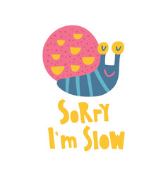 duper slow snail vector image
