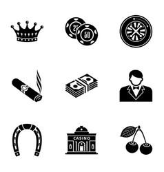Establishment icons set simple style vector