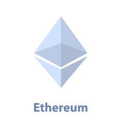 Ethereum symbol blue chrystal vector