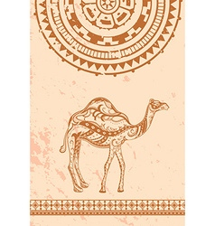 Ethnic vintage ornament greeting card vector image
