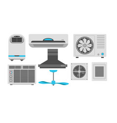 fan and air conditioner ventilation and exhaust vector image