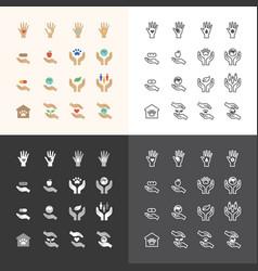 Flat icons set business finance technology vector
