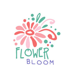 Flower bloom logo template element for floral vector