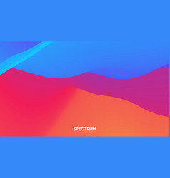 fluid color blend spectrum background vector image
