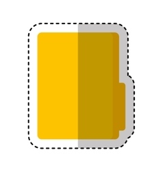 Folder file document icon vector