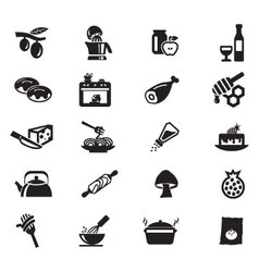 Food solid icons 10 vector