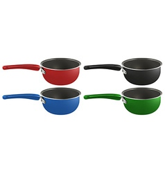 Four pots vector image