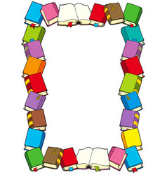 frame from books vector image